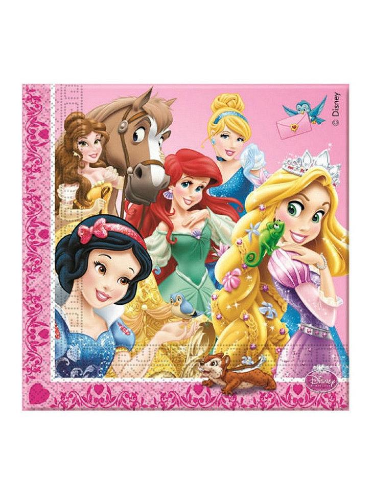 Салфетки Принцессы Дисней, серия Принцессы с питомцами, 33 ...