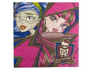 Салфетка Monster High 33см 16шт/уп