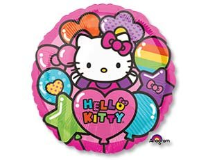 Hello Kitty (Хелло Китти) радуга, фольгированный шар 45 см
